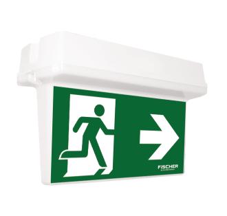 Rettungszeichenleuchte HA Klassische LED-Kunststoffleuchte