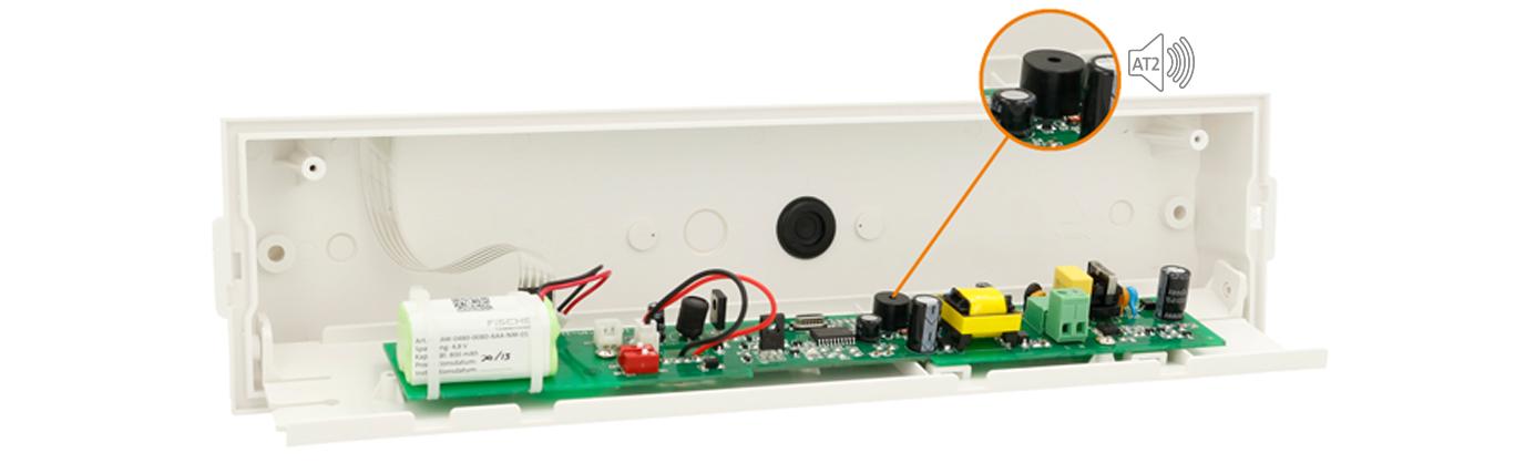 Autotest 2 - Innenansicht einer Leuchte mit Autotest-2-Funktion
