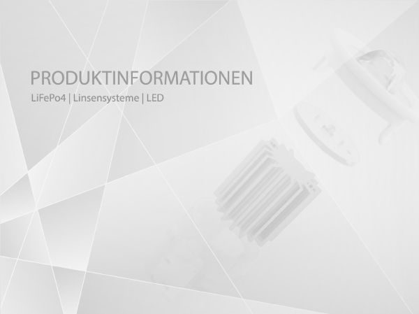 Akku-Linse-LED Produktinformationen