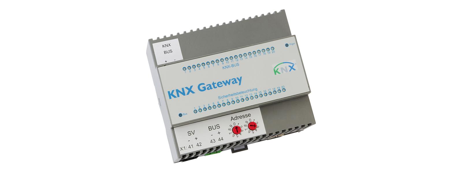 Notbeleuchtung KNX-Gateway