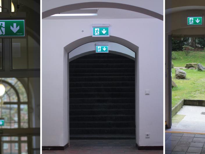 Referenz Notbeleuchtung Kunstakademie Düsseldorf Eingang