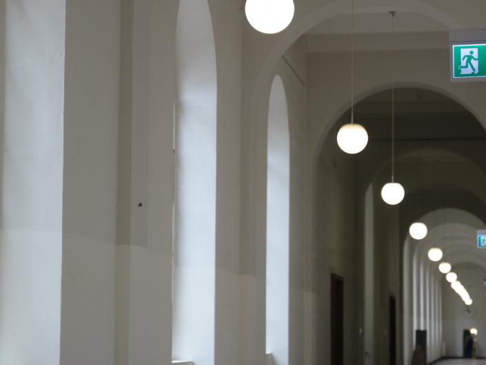 Referenz Notbeleuchtung Kunstakademie Düsseldorf Etage