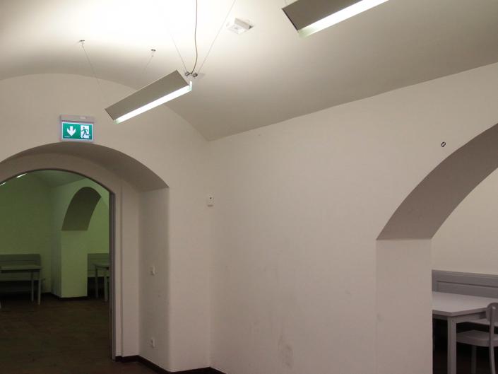 Referenz Notbeleuchtung Kunstakademie Düsseldorf Kantine