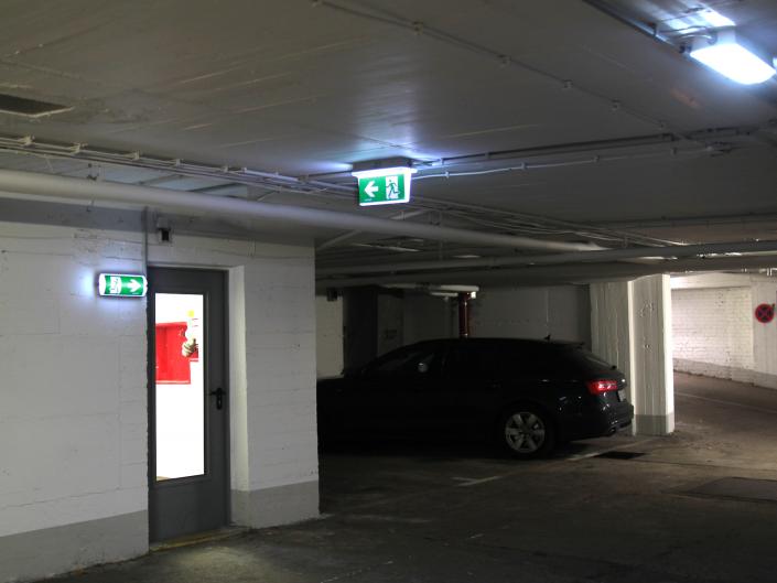 Referenz Notbeleuchtung Parkhaus Kreuzstrasse Düsseldorf Gallerie1