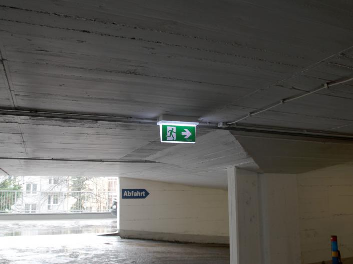 Referenz Notbeleuchtung Parkhaus Kreuzstrasse Düsseldorf Gallerie2